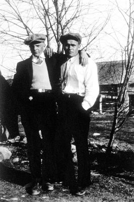 "Taisto and Niilo ""Nick"" Toikka, Long Lake, circa 1936"